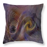 Twist And Shout - Square Version Throw Pillow