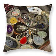 Twisted Button Throw Pillow