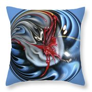 Twisted Clown Orb Throw Pillow