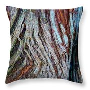 Twisted Colourful Wood Throw Pillow