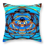 Heart In Blues Throw Pillow