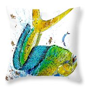Twisted Mahi Throw Pillow