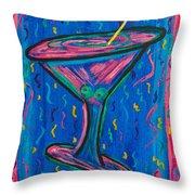 Twisted Martini Throw Pillow
