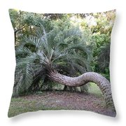 Twisted Palm Throw Pillow