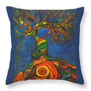 Twisted Sista' Throw Pillow