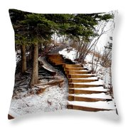 Twisted Staircase Throw Pillow