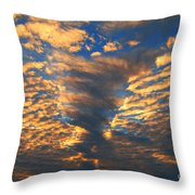 Twisted Sunset Throw Pillow