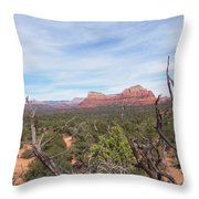 Twisted Tree View Throw Pillow
