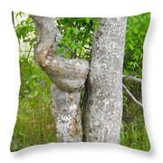 Twisted Trunk Throw Pillow