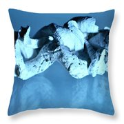 Twisted Worm Shells Throw Pillow