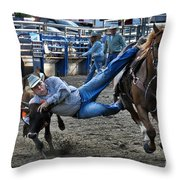 Twisting Horns Throw Pillow