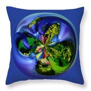 Twisting Orb Throw Pillow