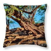 Twisting Trees Throw Pillow