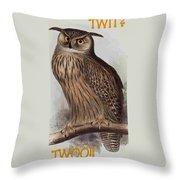 Twit Twoo Throw Pillow
