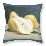 Two And A Half Pears Throw Pillow