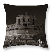 Two Angels Throw Pillow
