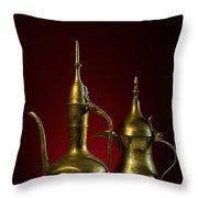 Two Arabic Coffee Pots Throw Pillow