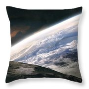 Two Astronauts Exploring A Moon Throw Pillow