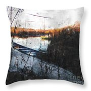 Two At The Dock Throw Pillow