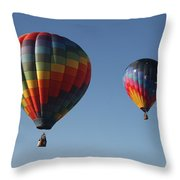 Two Balloons Throw Pillow