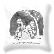 Two Bedraggled Men Throw Pillow