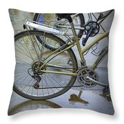 Two Bicycles Throw Pillow