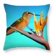 Two Birds Of Paradise Throw Pillow