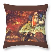 Two Blue Palms Throw Pillow