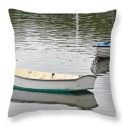 Two Boats 2 Throw Pillow