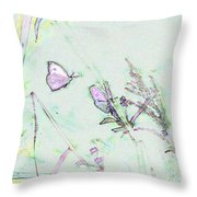 Two Butterflies Throw Pillow