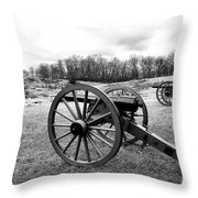 Two Cannons Throw Pillow