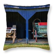 Two Carts Throw Pillow