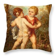 Two Cherubs Throw Pillow
