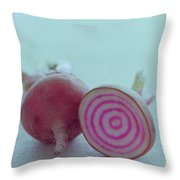 Two Chioggia Beets Throw Pillow