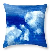 Two Clouds In The Sky Throw Pillow