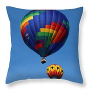 Two Colorful Balloons Throw Pillow