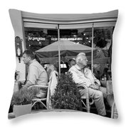 Two Couples Throw Pillow