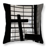 Two Crosses Throw Pillow