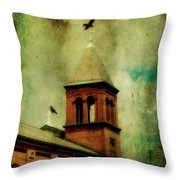 Two Crosses Two Crows Throw Pillow