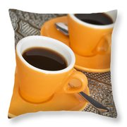 Two Cups Of Espresso Throw Pillow
