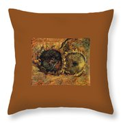 Two Cutted Sunflowers Throw Pillow