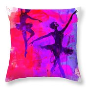 Two Dancing Ballerinas 3 Throw Pillow