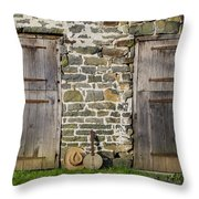 Two Doors On A Barn Throw Pillow