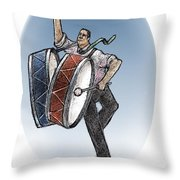 Two Drums Throw Pillow