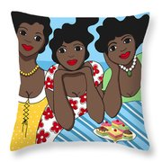 Two Each Throw Pillow