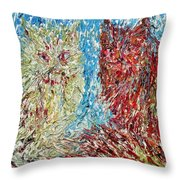 Twelve Passionate Months Led In A Day Of Fate Throw Pillow