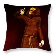 Two Faces Of Death Throw Pillow