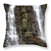 Two Falls Throw Pillow by Garry Gay