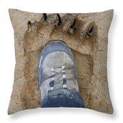 Two Feet Throw Pillow