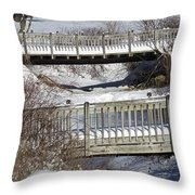 Two Foot Bridges Throw Pillow